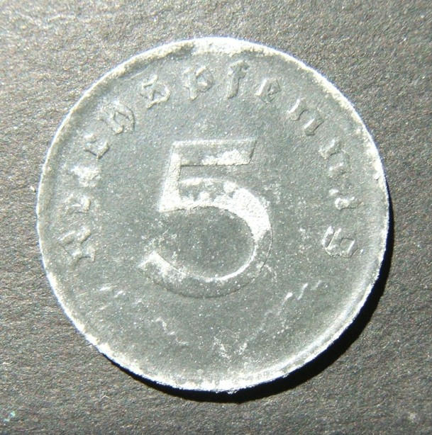 Germany 5 Pfennig 1947 A zinc Allied occupation issue coin, AU