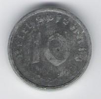 מטבע גרמנית 10 פניג 1947A במצב UNC