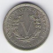 US: Liberty head nickel, 1883 (no CENTS), AU-55