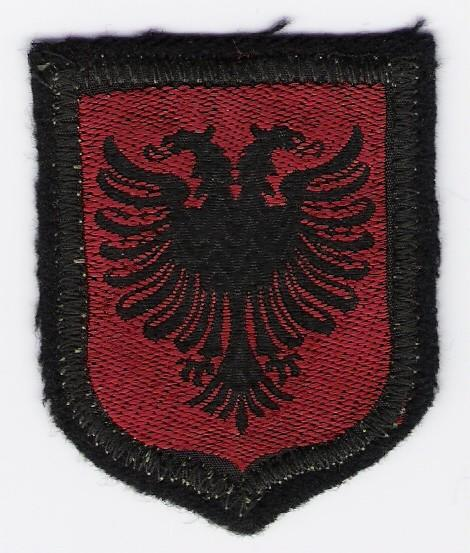 Albanian national armshield patch for volunteers in 'Skanderbeg' Division, 1944