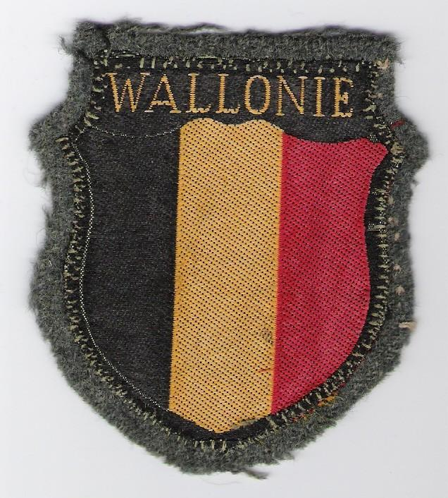 Wallonian/Belgian armshield patch for volunteers in German Army or W-SS