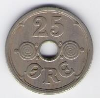 Denmark: 25 Ore coin, 1939, VF-EF