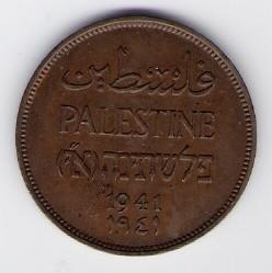 Palästina-Mandat: 2 Mils-Münze, 1941 SS-VZ