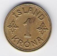 מטבע איסלנדית קרונה 1 1940 במצב EF-AU