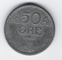 Norway: 50 Ore coin, 1944, VF