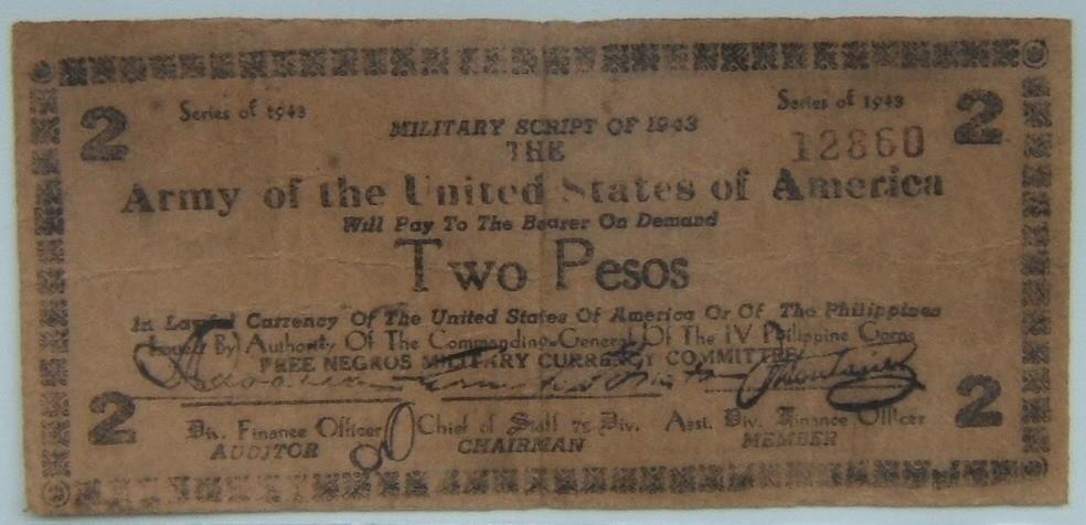 Philippinen: x3 Guerilla Banknoten Negros: 1-Peso VZ, 2-Peso SS, 10-Pesos SGE