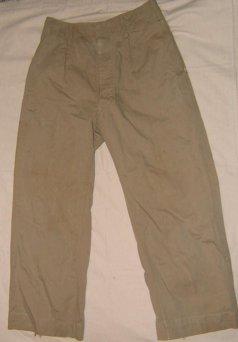 Israeli Army (Israeli-made) battledress pants in khaki, 1949