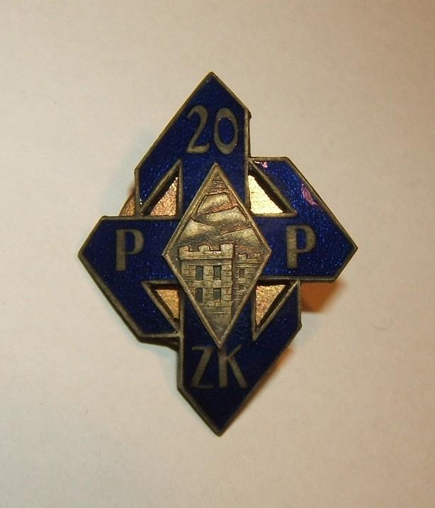 Badge of the Polish Army's 20th (Krakow) Infantry Regiment by Olszewski