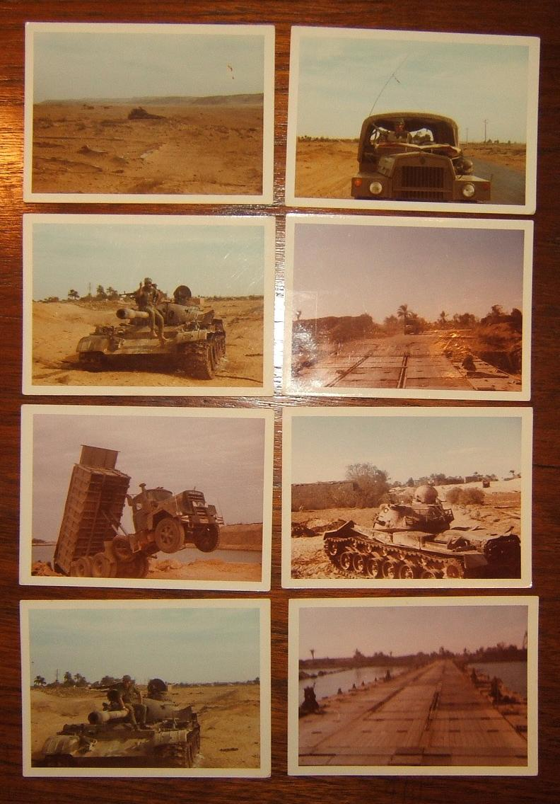 x8 ursprüngliche Kampffeld-Farbfotos von Jom Kippur Krieg, 1973
