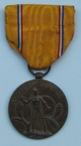United States 'American Defense Service' medal