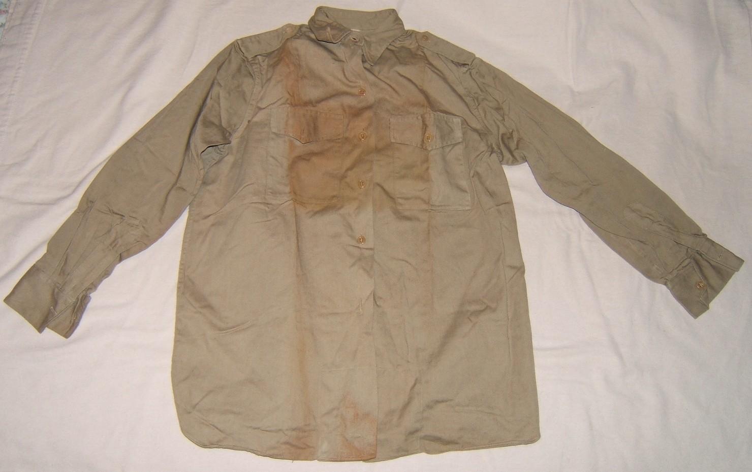 Israeli Army (Israeli-made?) battledress shirt in khaki, 1950