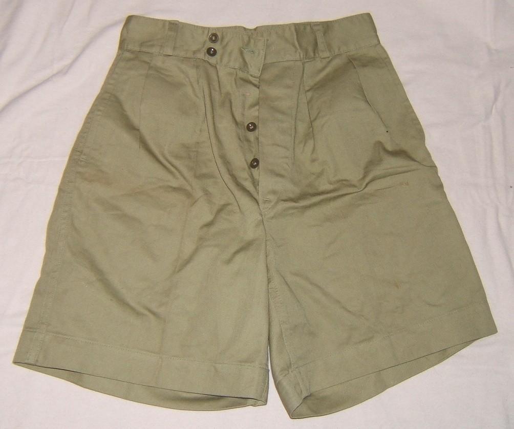 ATA' Shortsin grünem Denim für zivile oder militärische Kleidung, ca. 1953
