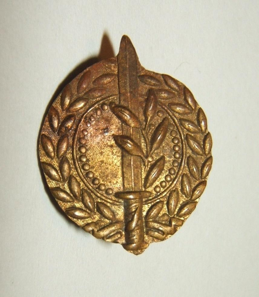 Rare IDF General Staff emblem tunic pin, cir. 1948-1950
