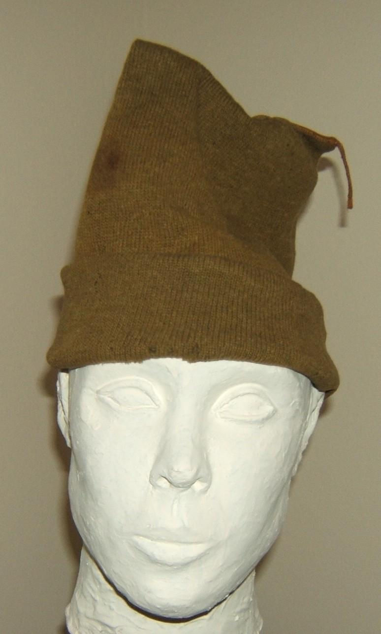 Haganah-Palmach-early-IDF olive green 'sock hat' (