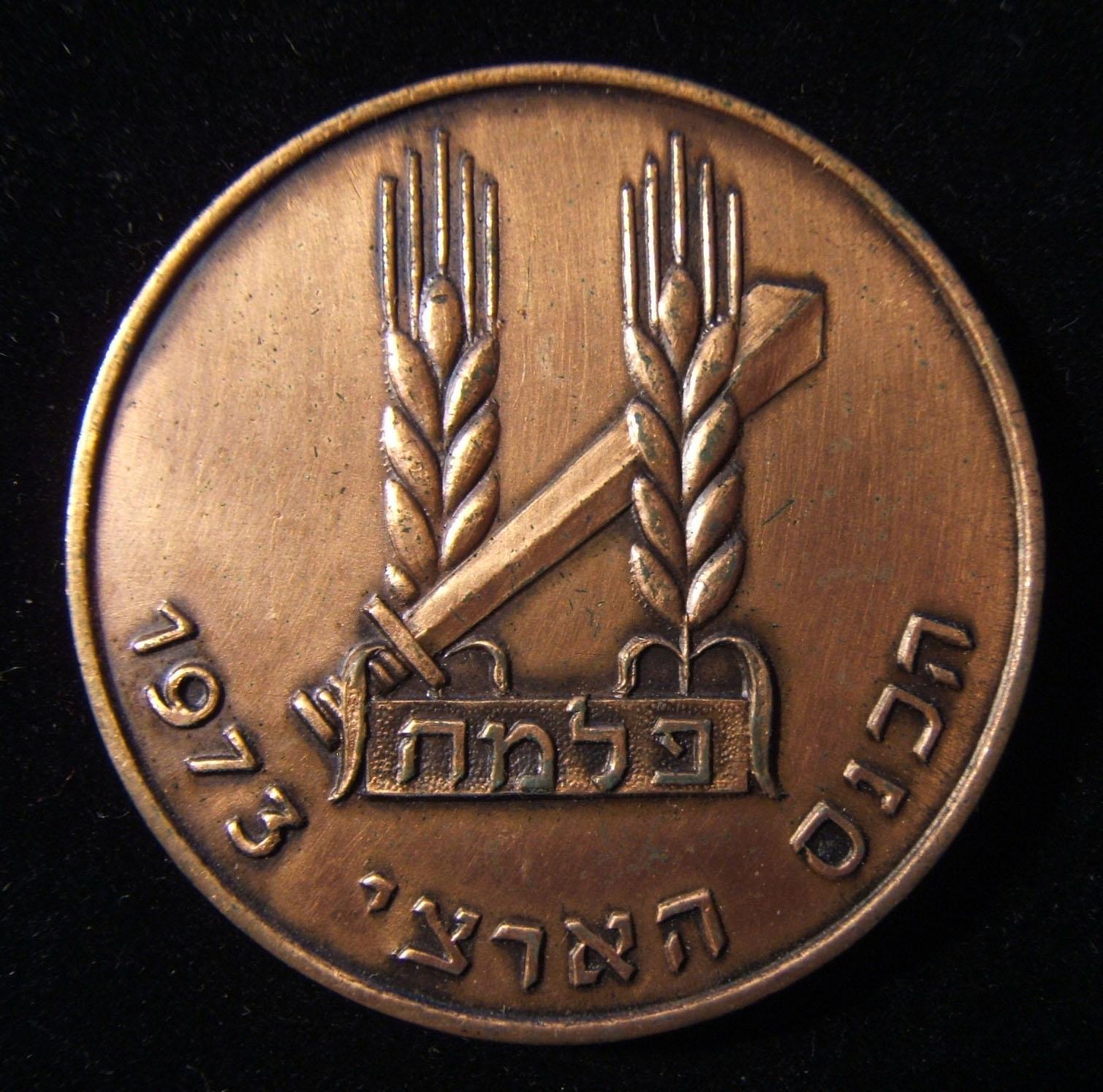 Medaille zum Gedenken an die Nationalversammlung von Palmach und das 25-jährige Jubiläum Israels 1973