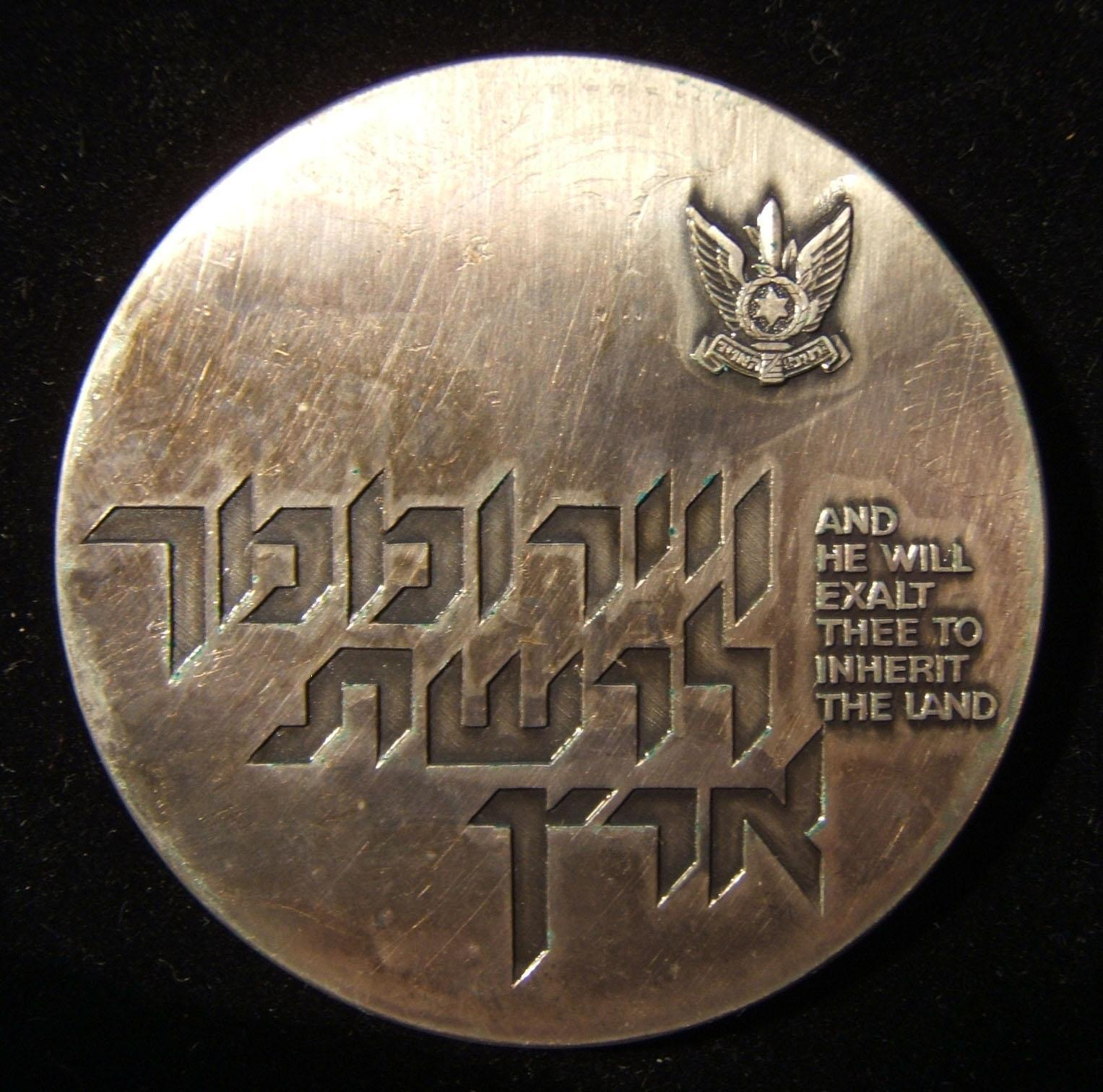 Israel Air Force/IAF Yom Kippur War era appreciation medal, circa. 1973