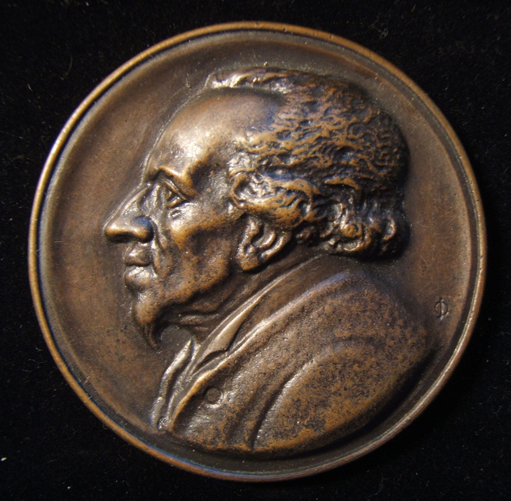 מנדלסון, גרמניה, מדליית הקלה בגודל בינוני מדליית יודאיקה מאת רוברט בול