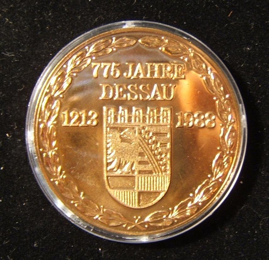 ألمانيا الشرقية ديساو / مندلسون ميدالية يهودية يهودية من هلموت كونيج 1988
