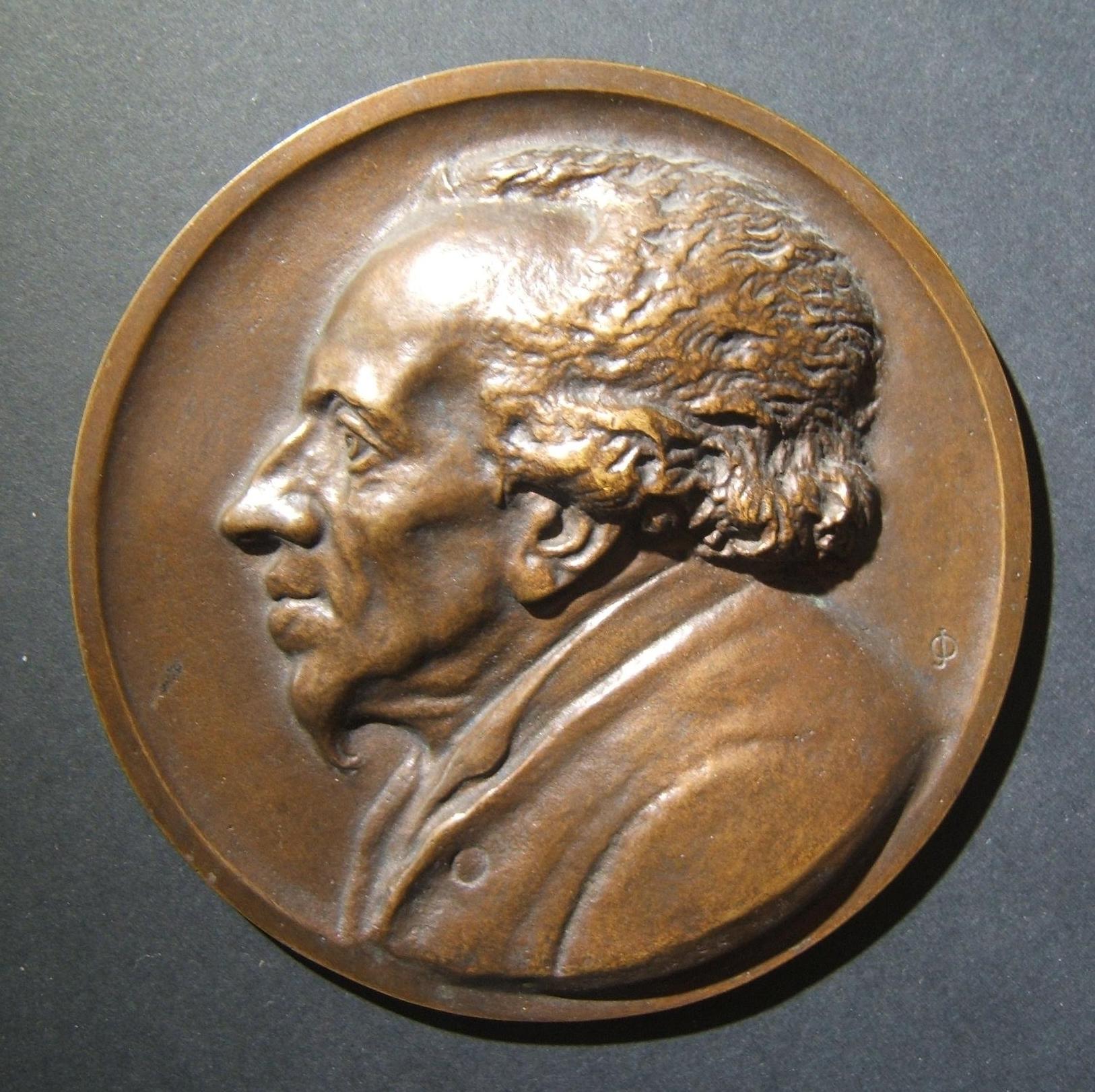 Deutsch Moses Mendelssohn große Büste Judaica Medaille von Robert Ball c. 1929