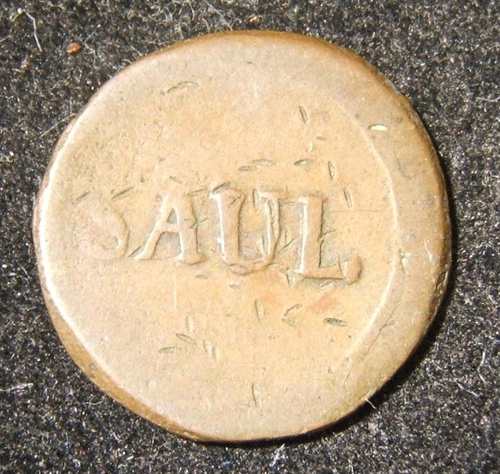 Germany > Mecklenburg: Parchim town copper token (ND); size: 1.85cm; weight: 2g. Obverse bears the name