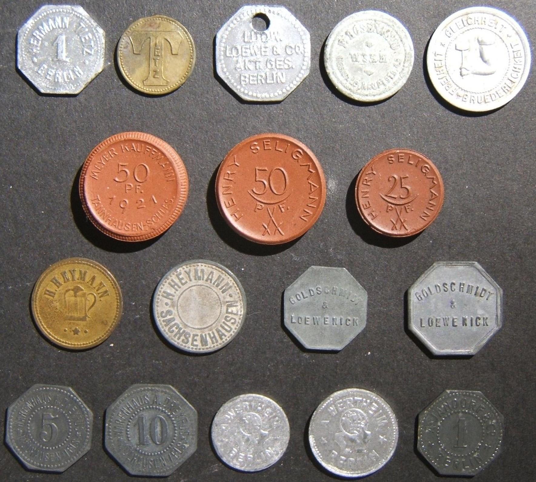 17x deutsche und österreichische jüdische Geschäfts- / Handelsmarken, Anfang des 20. Jahrhunderts