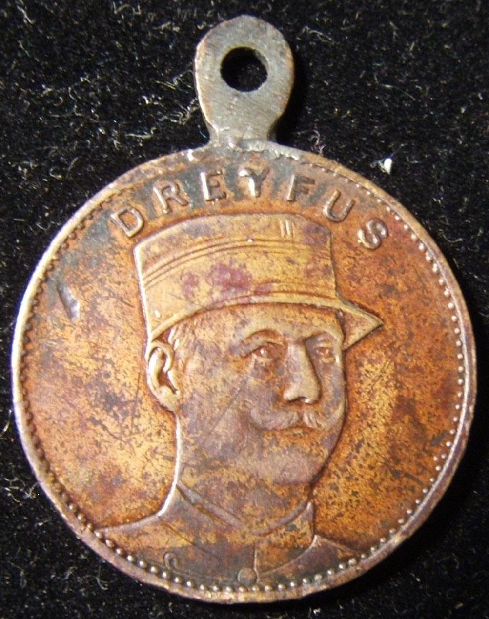 French Judaica medal commemorating Alfred Dreyfus & Fernand Labori