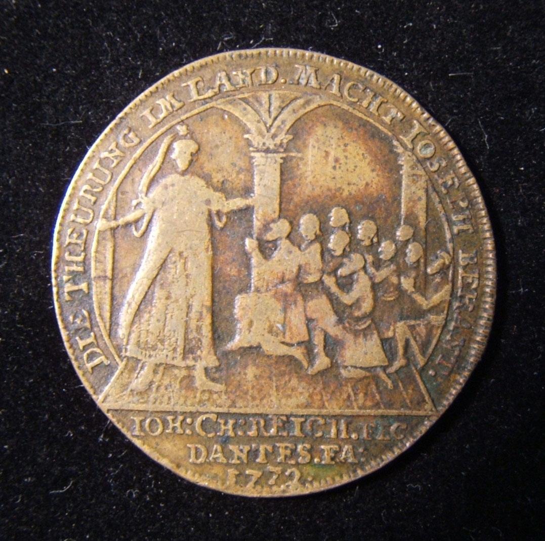 الألمانية Judaic جوزيف آند براذرز التضخم النحاسي غير المدرجة Jeton التي كتبها Reich Bret-1936