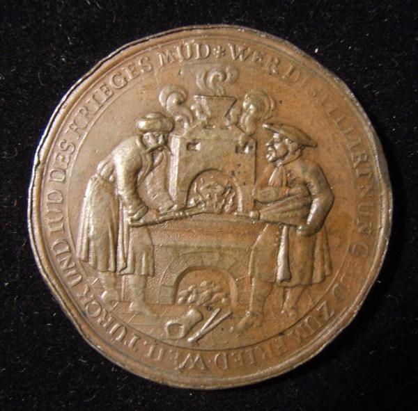 Austria > Hapsburg: 1686 'Jews & Turks Budapest' medal (