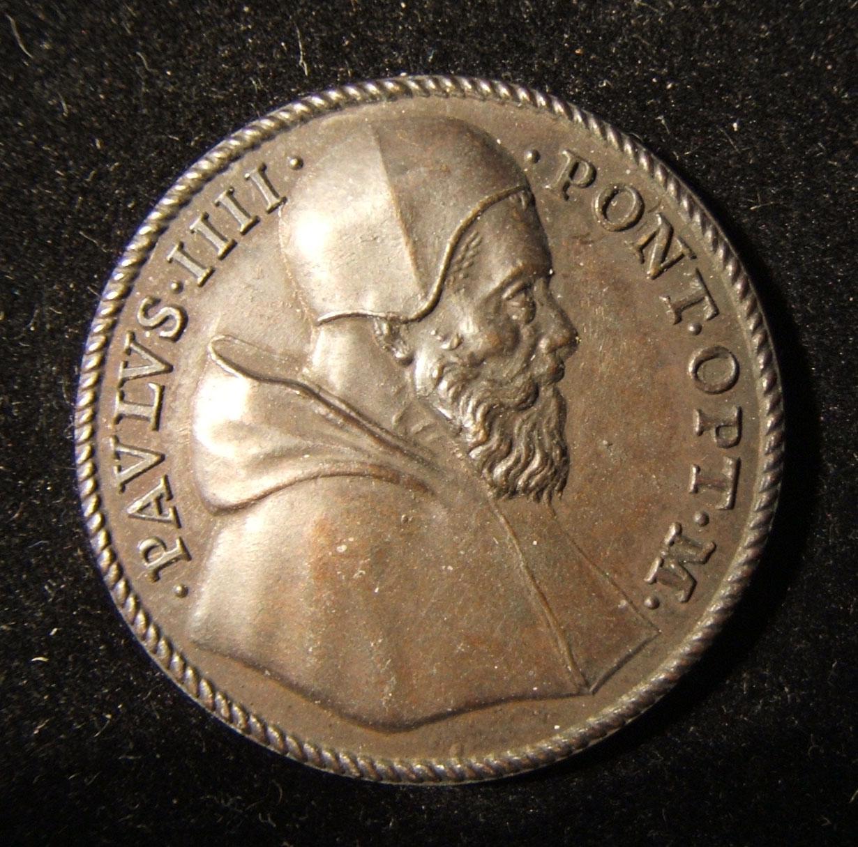 الايطالية البابا بولس الرابع ميدالية يسوع / التجار ، من قبل Federigo Parmensis ، Spink # 569
