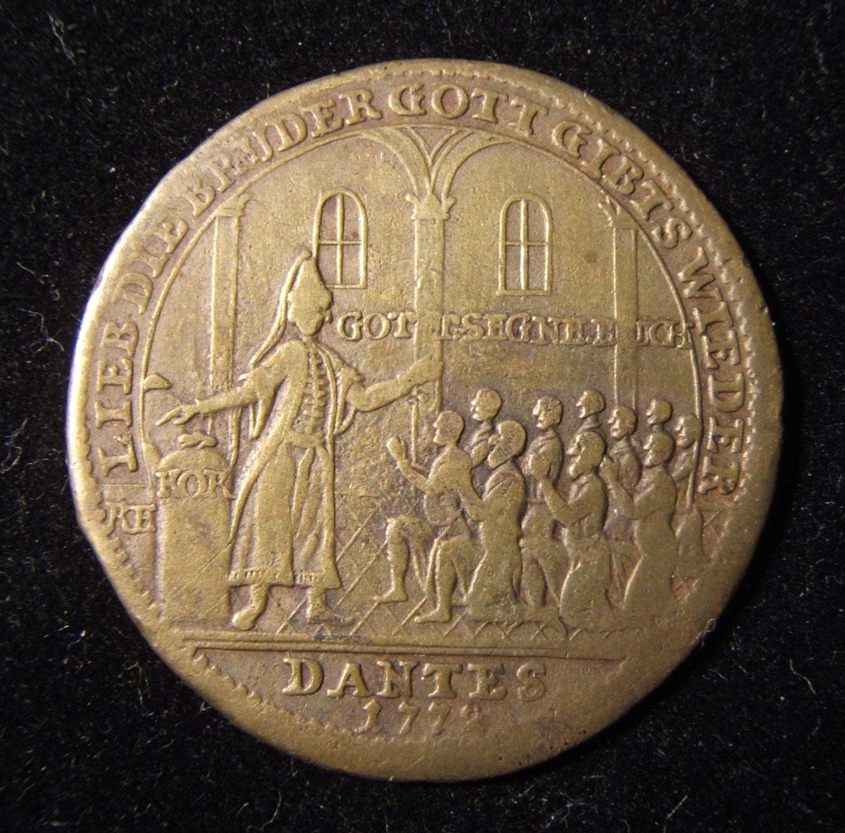 الألمانية Judaic جوزيف وإخوانهم النحاس التضخم Jeton من قبل Reich 1772 ، بريت -1931