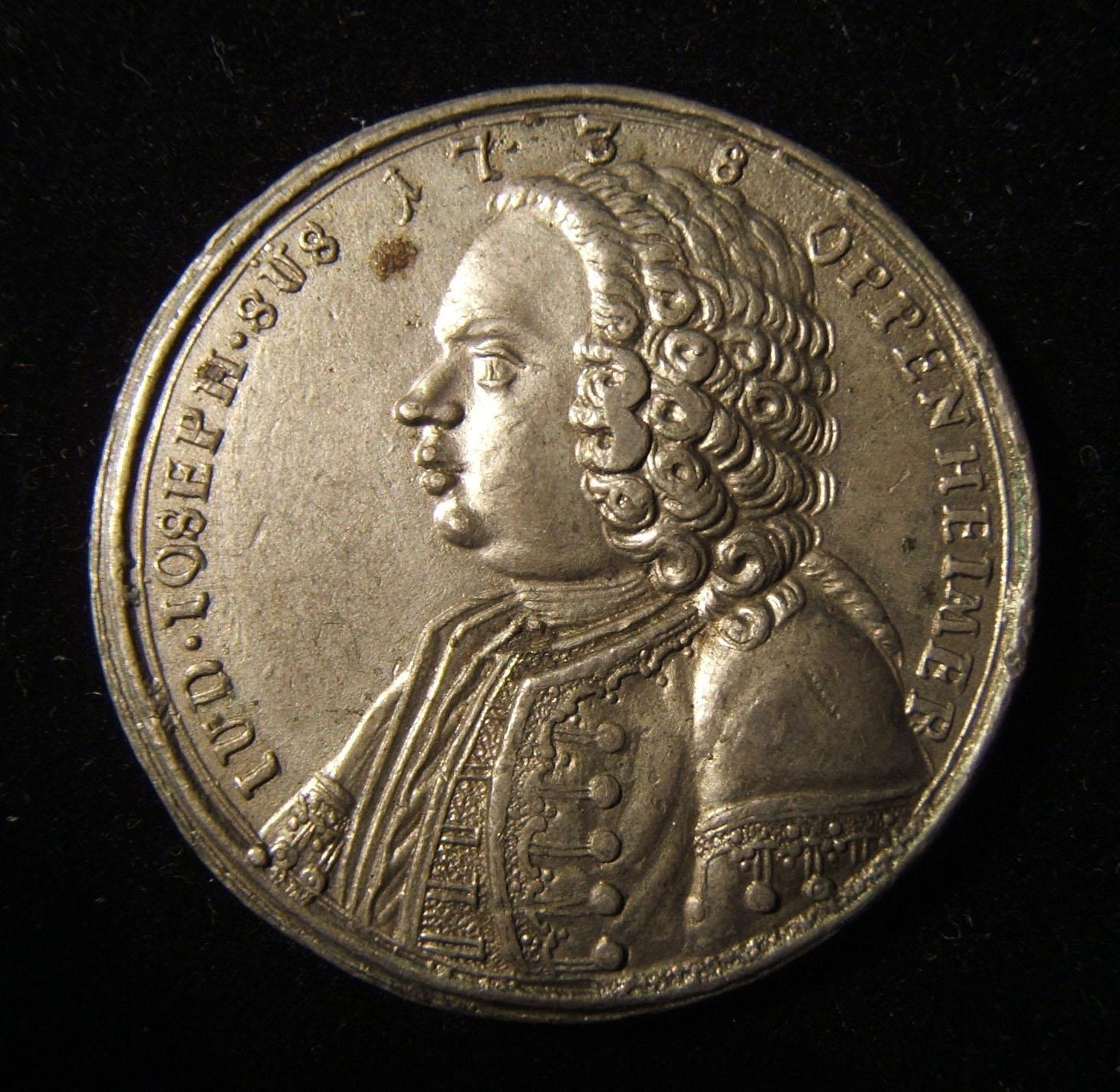 Germany: Jud Süss in Birdhouse white metal/pewter medal, 1738