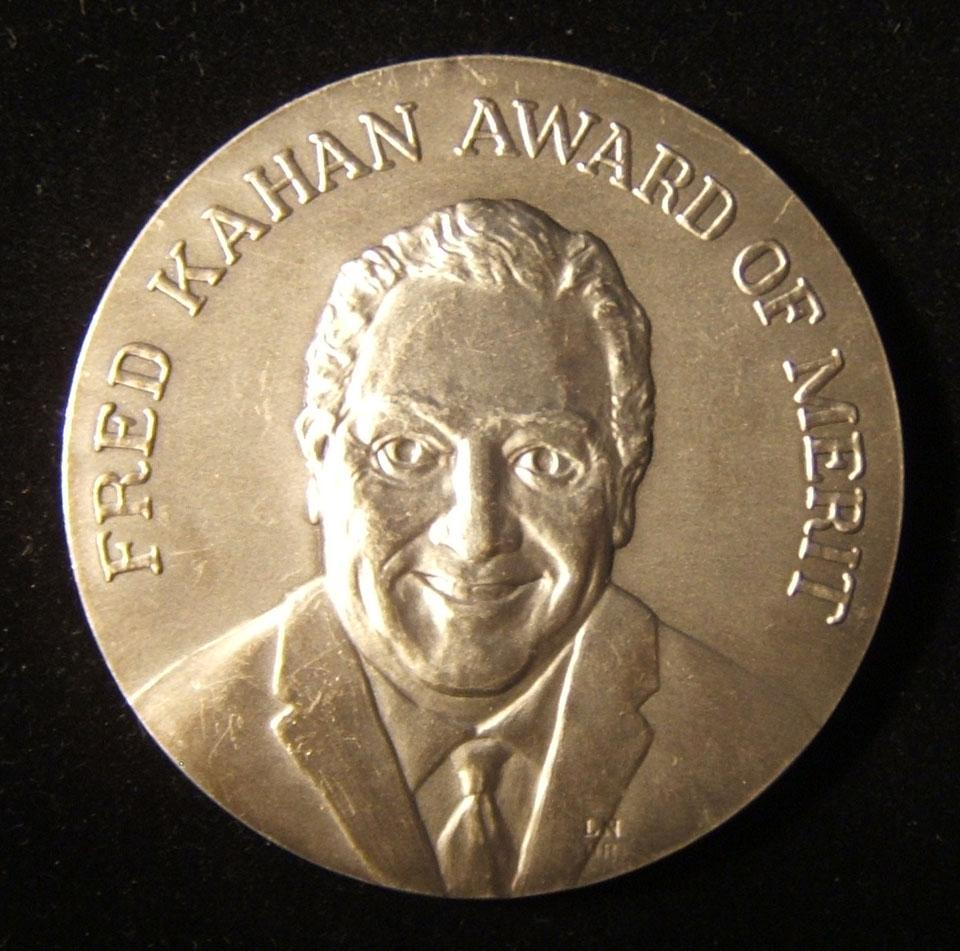 American Fred Kahan numbered Merit Award of Bnai Zion Zionist fraternity medal