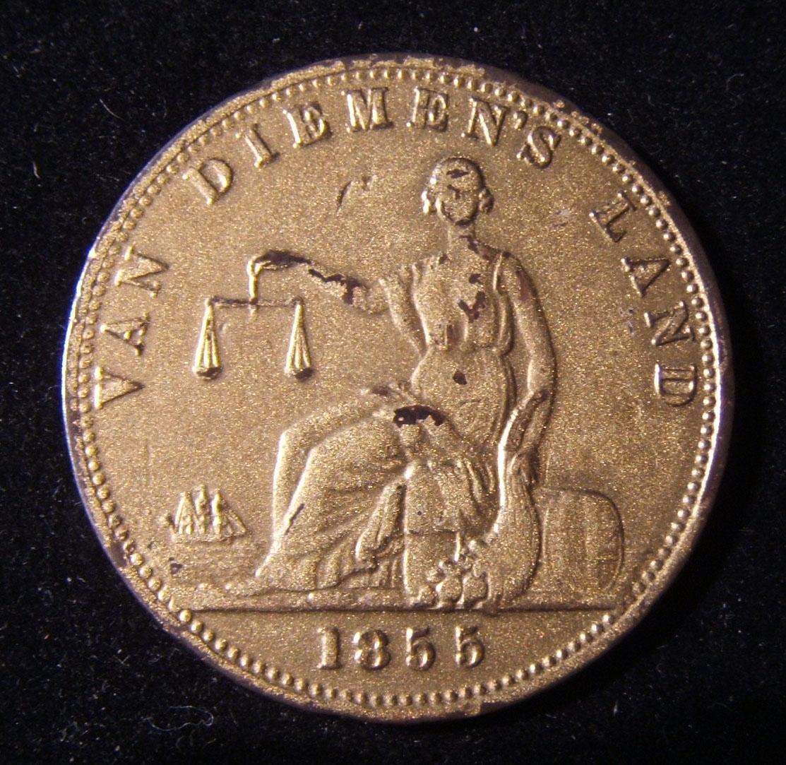 Australian-Tasmanian / Van Diemen's Land Ruben Josephs Penny mule token 1855