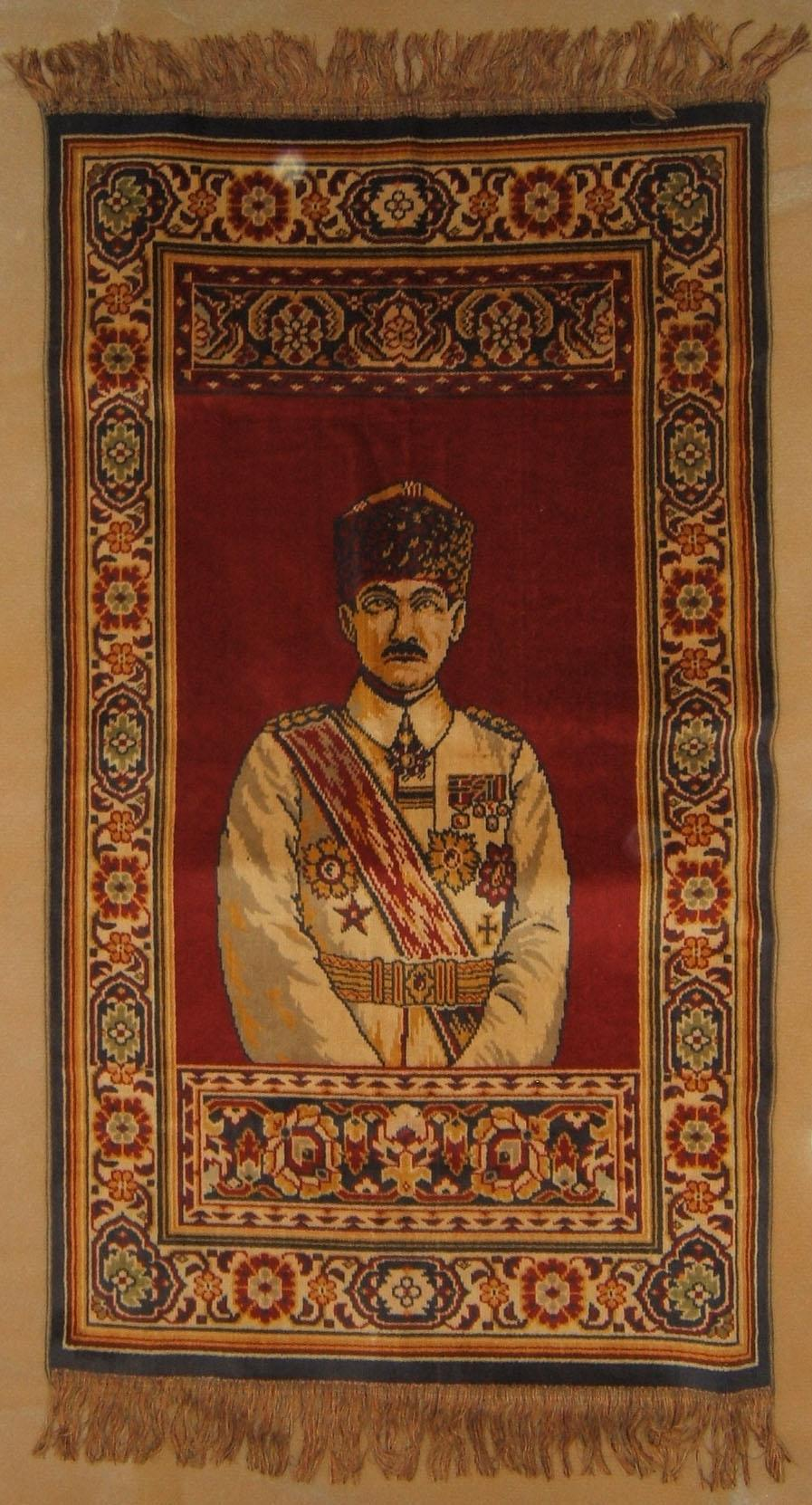 Mustafa Kemal [Atat?rk] Jewish carpet by Alliance Israelite Universelle school, 1918