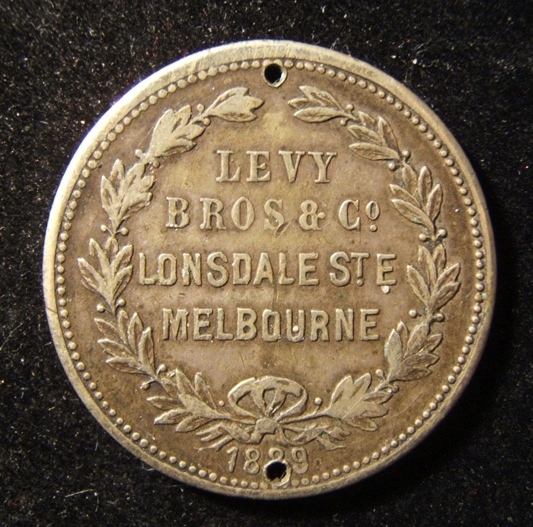 Australia: 'Levy Brothers' nickel token, 1889