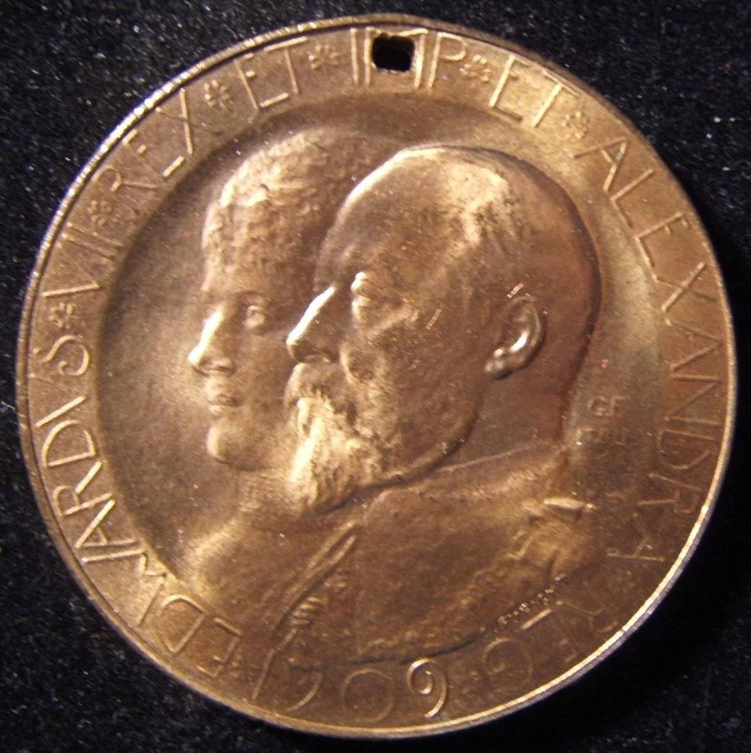 Great Britain, Opening of University of Birmingham commemorative token, 1909; by G.F. M.B. Ltd (possibly related to 18th-19th Century Birmingham medalist John Gregory Hancock); str