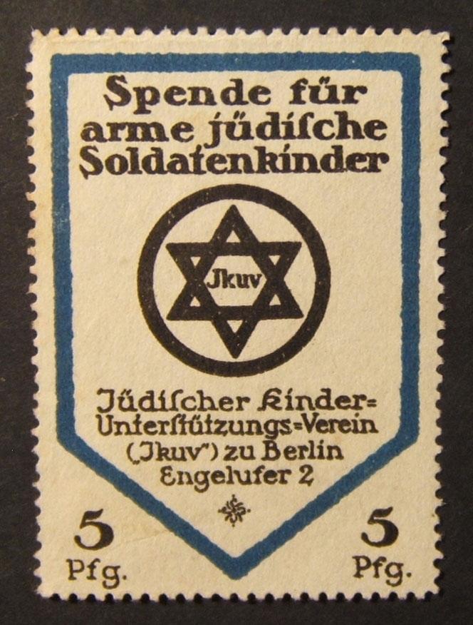 Germany: x3 children Jewish veterans welfare labels, c.1915-1930