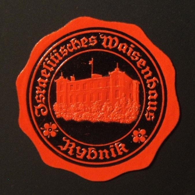 Poland/Germany: Rybnik Jewish Orphanage seal, circa. 1890's