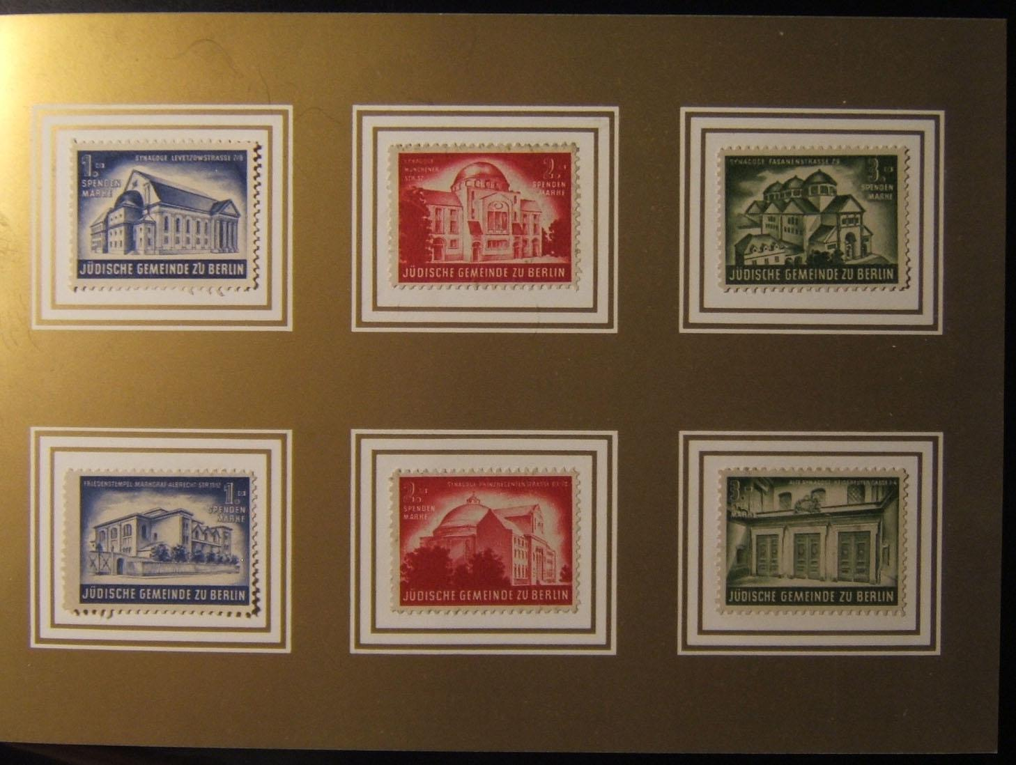 Germany: Jewish Community of Berlin 1968 restoration fund stamp booklet