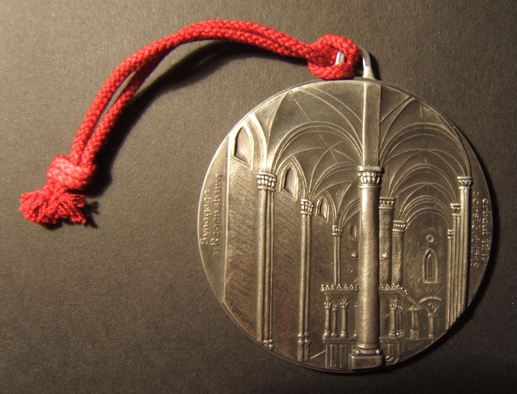 Germany: Regensburg Synagogue commemorative medal, ND (circa. 1967-1969)