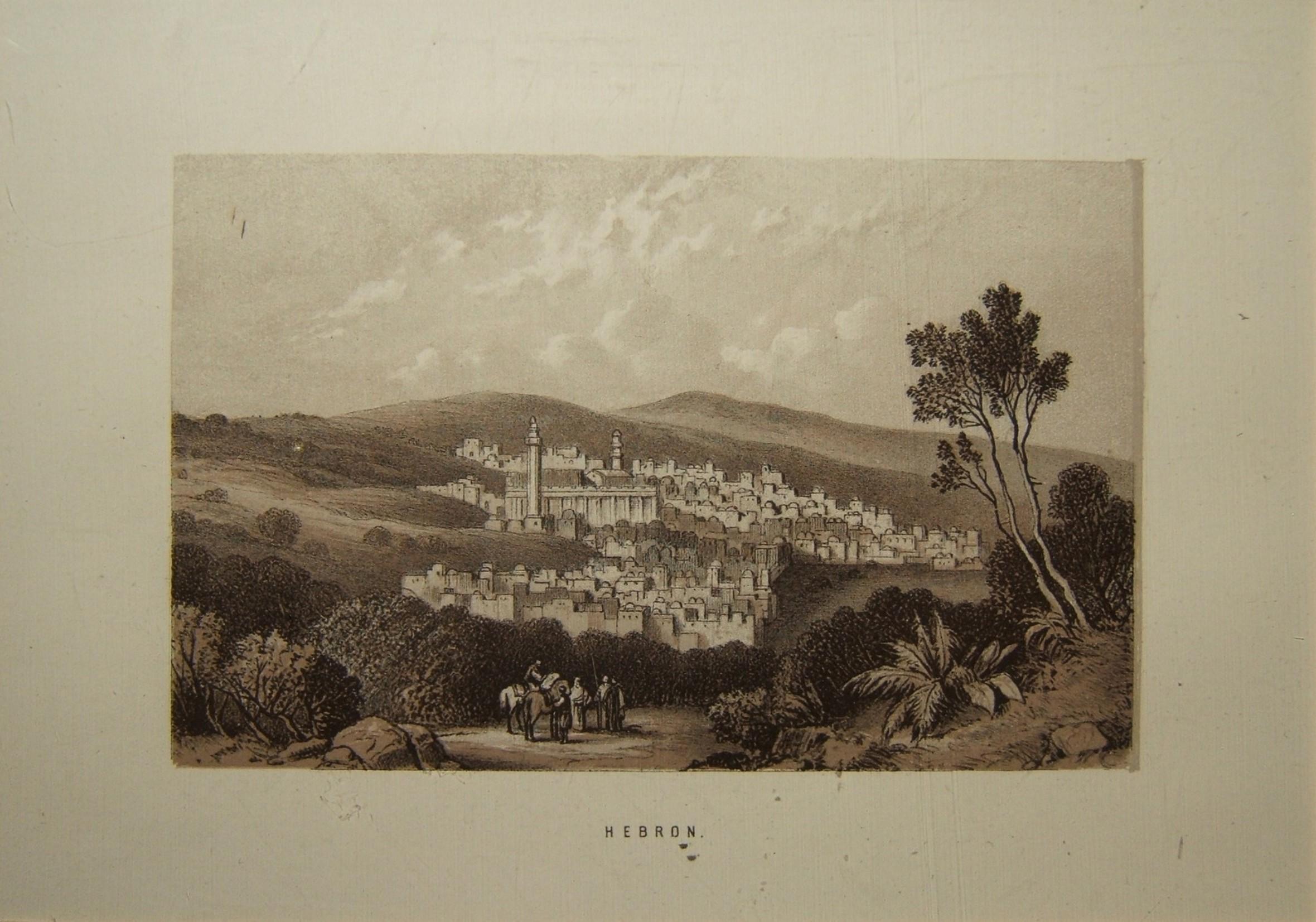 הדפס ליטוגרפי של הולילנד בחברון, בערך 1879 - ללא ציון