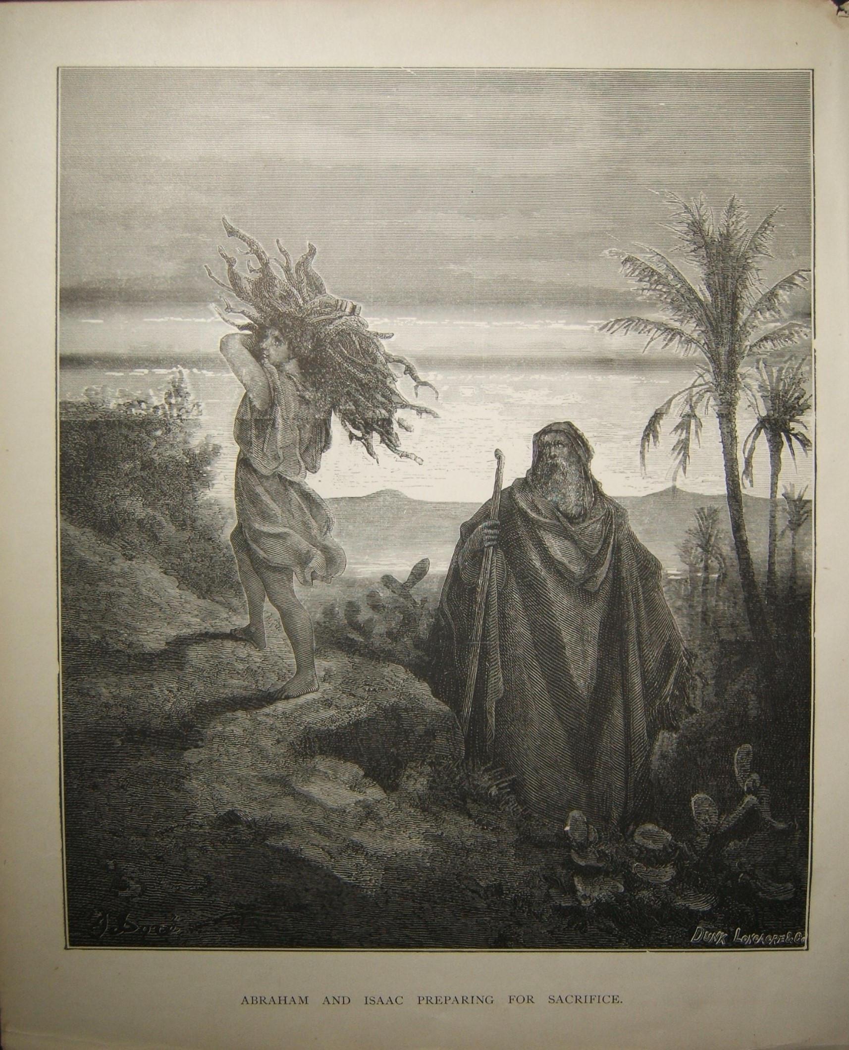 طباعة الكتاب المقدس إبراهيم وإسحاق تستعد للتضحية من دونك لونجاكر وشركاه