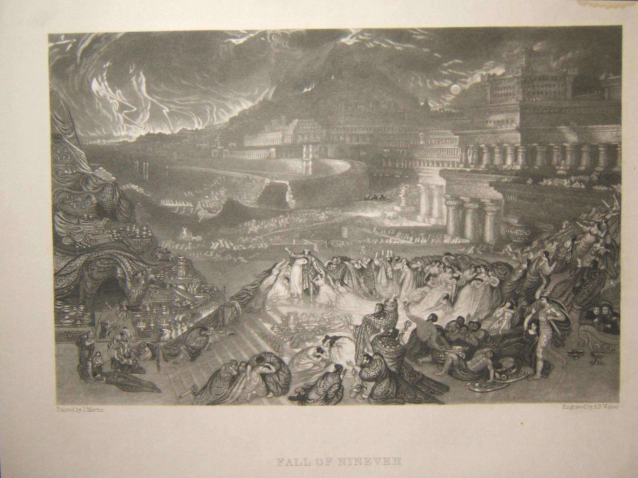 הדפסה מקראית סתיו של נינוה; ג 'יי מרטין & א.ב. וולטר, המאה ה -19