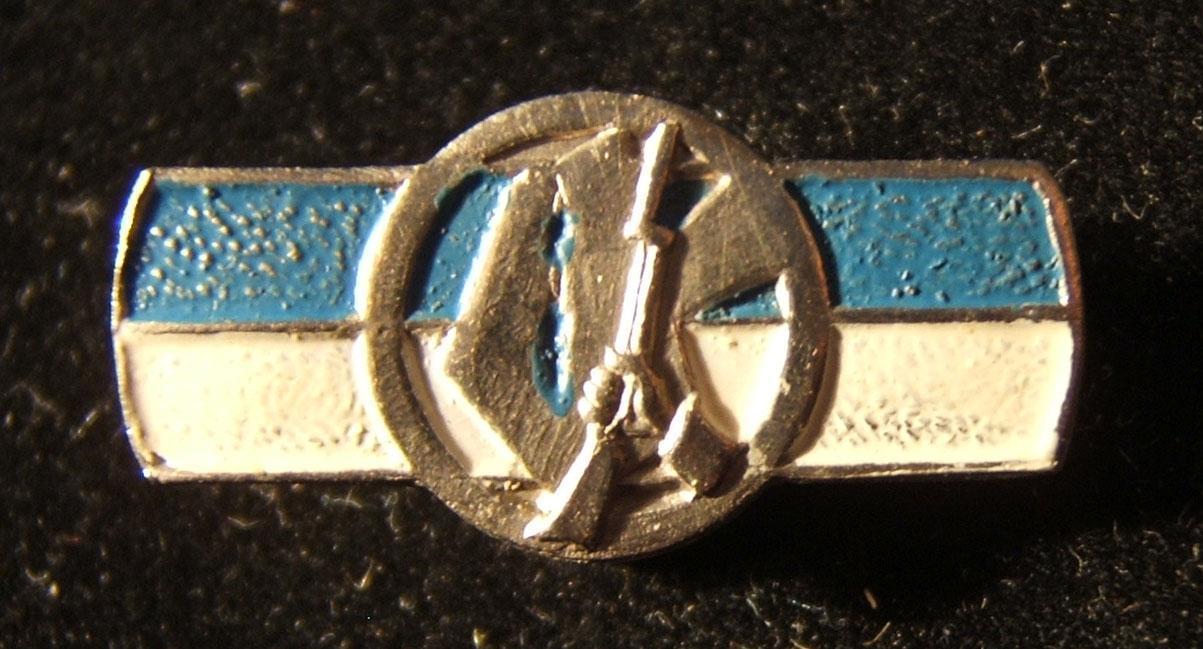Palästina/Israel: nummerierte Dekoration von Irgun/Etzel, ca. Ende 1940er - Anfang 1950er; kein Hersteller gekennzeichnet; Größe: 25,50 x 12,50 mm; Gewicht: 4,25 g. Gebogenes recht