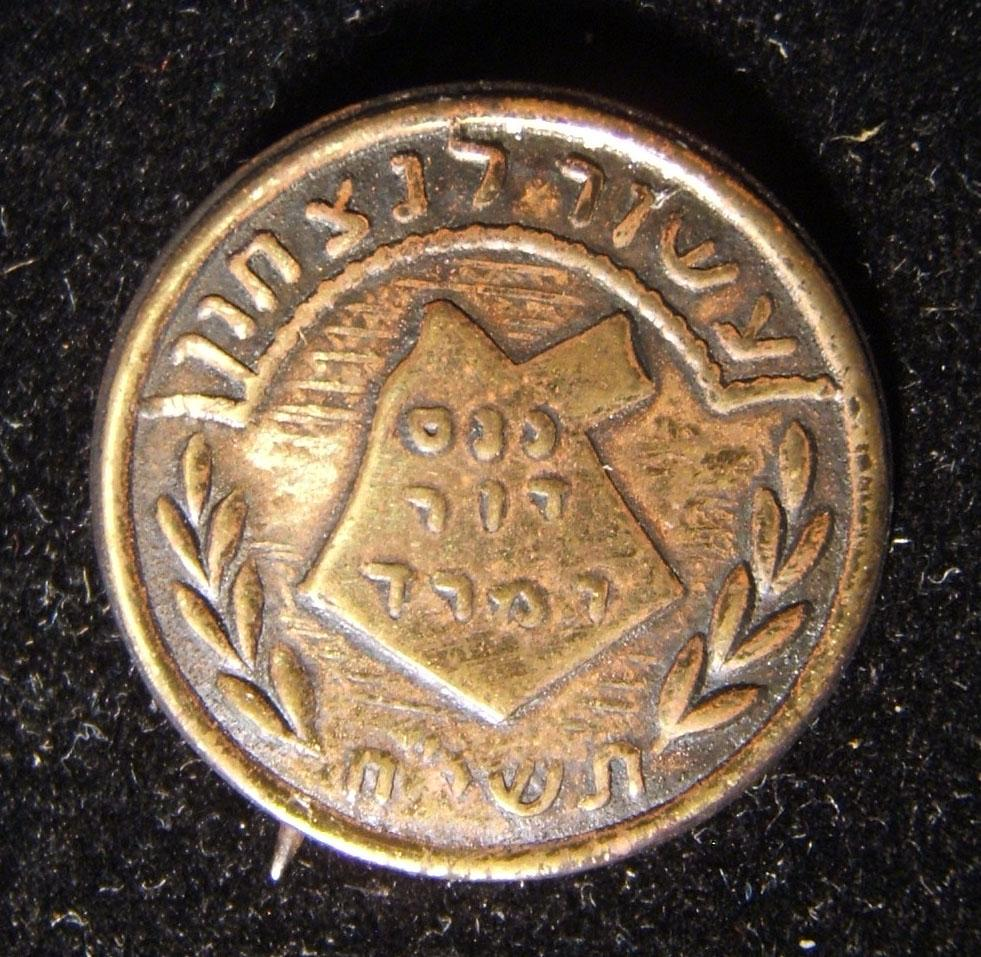 Pin of the Irgun promoted