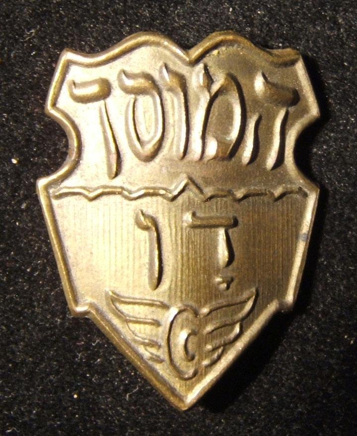 Palestine/Yishuv: 'Dan' garage hat badge of the