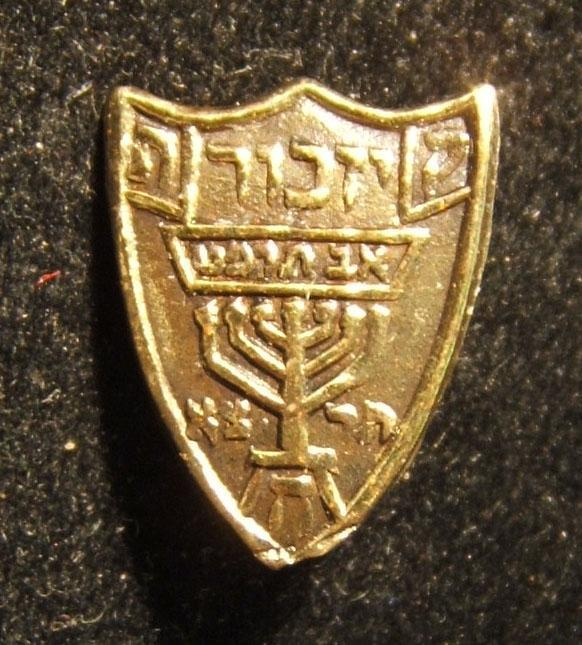 Palestine: 1929 Arab Riots victims commemoration pin, 1931; not maker-marked; size: 12x14.5mm; weight: 0.7g. Bears word