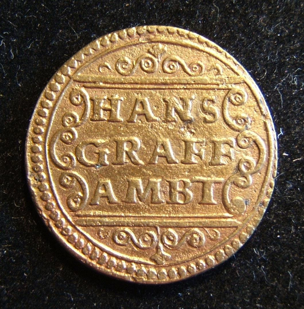 German/Regensburg Hans Graff Ambt 1551 cast copy 'kupfermark'