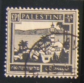 Mandate pictoral £1 stamp in black, canc TA (light hinge mark on back)