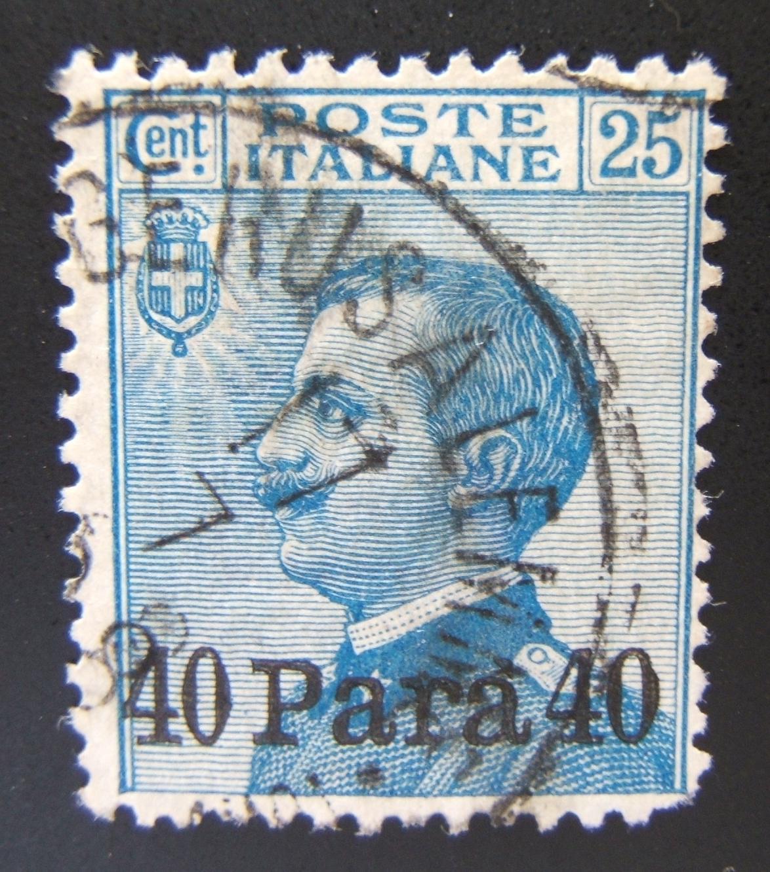 Italienische Post im Heiligen Land 1908-10 Levant Ausgabe 40 Para/25c (Ba 22), benutzt Postmarke Ba 502